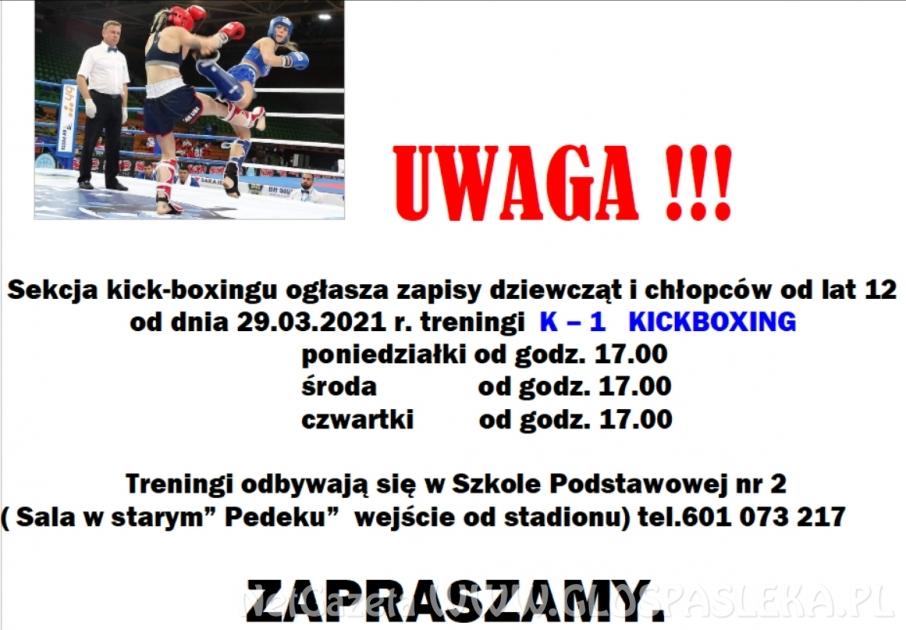 Sekcja kick - boxingu zaprasza