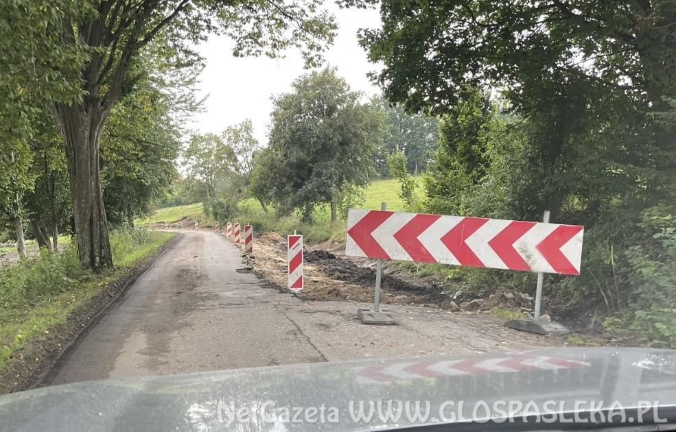 Remont drogi 505 do Młynar