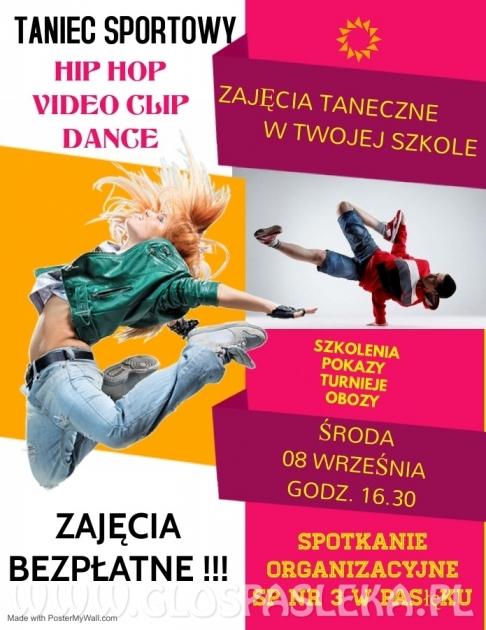 BEZPŁATNE ZAJĘCIA TANECZNE - Taniec nowoczesny: Hip Hop , Video Clip Dance