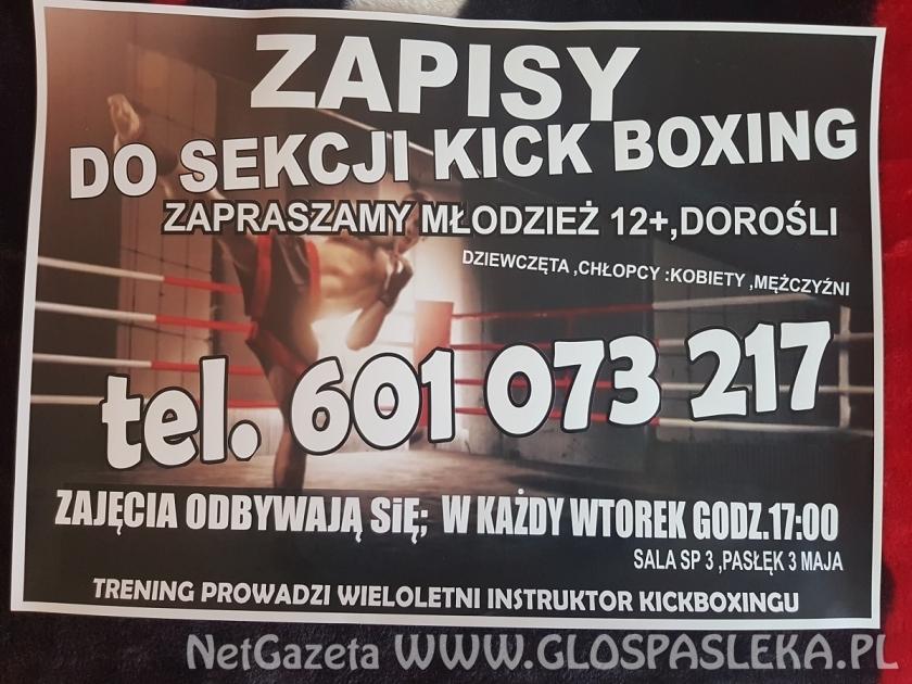 Zapisy do sekcji kick boxingu
