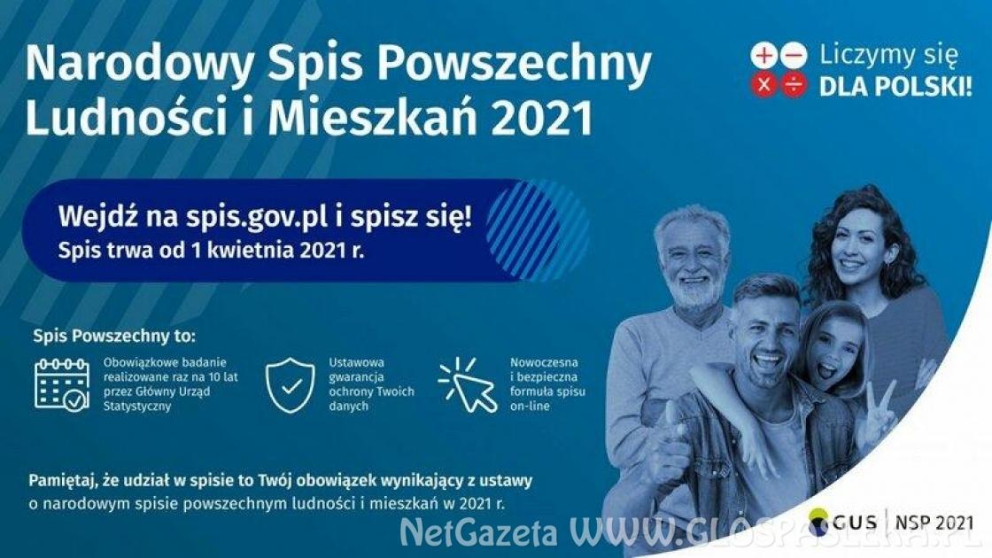Przypominamy o Narodowym Spisie Powszechnym Ludności i Mieszkań 2021