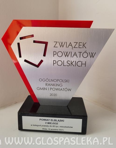 Powiat Elbląski nagrodzony