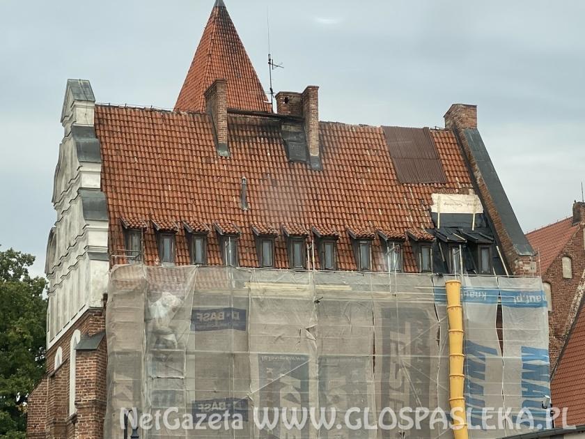 Remont dachu na ratuszu